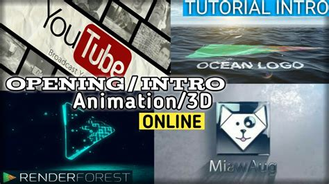 cara membuat opening video online cara membuat intro animation 3d opening video keren