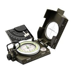 Travel Compass Outdoor American Kompas Cing Portable fundamentals of orienteering parts of the lensatic compass emergency preparedness