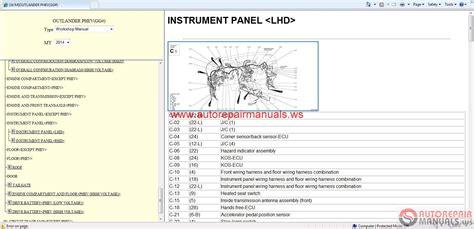 free online auto service manuals 2003 mitsubishi outlander parental controls auto repair manuals mitsubishi outlander 2014 wsm