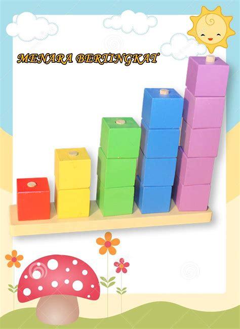 Balok Bangun A60 T Permainan Edukatif jual mainan edukatif edukasi anak balok kayu menara