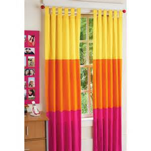 Pink And Orange Curtains Your Zone Chino Curtains Pieced Racy Pink Orange Stripe Walmart