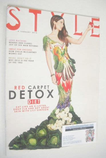 January Detox Diet by Style Magazine Carpet Detox Diet Cover 4 January 2015