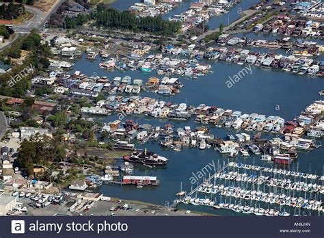 san francisco house boats aerial view above sausalito richardson bay san francisco bay stock photo royalty free