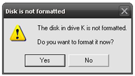 format hard disk error bitlocker to go the disk in drive x is not formatted