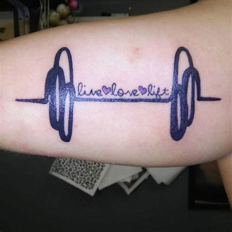 weightlifting tattoos cool fitness tattoos that will make you want to get inked