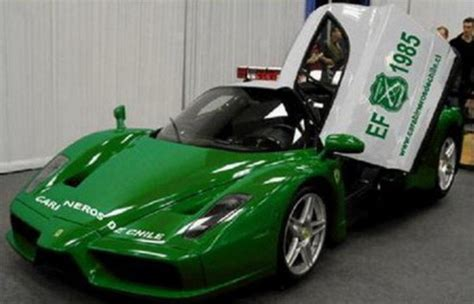 police ferrari enzo green ferrari enzo only for police car news top speed