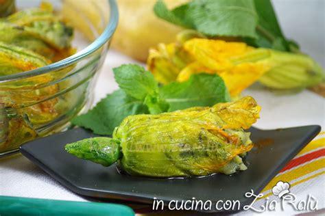 ricetta fiori di zucca al forno ricetta fiori di zucca al forno ripieni di patate e menta