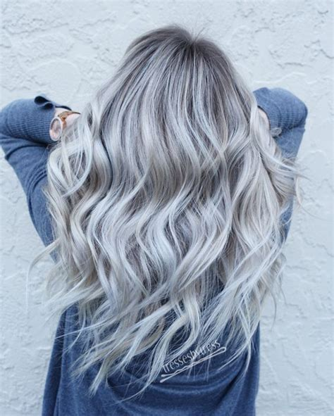 Platinum Sho Shoo Silver White Grey Ombre 27 best platinum hair color and highlights for 2018 ihaircuts website