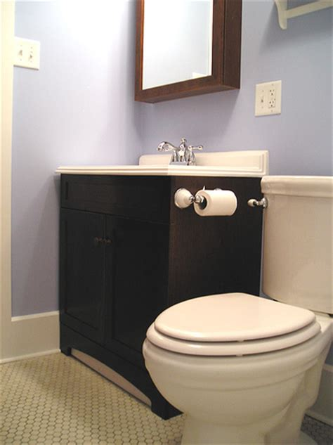 pale violet small bathroom decorating ideas on a budget