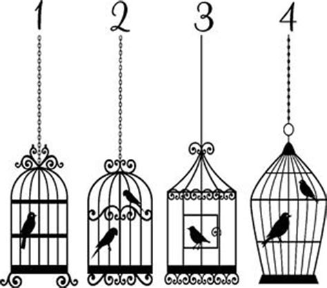 Birdcage Wall Sticker bird cage vinyl sticker wall art bedroom decal ebay