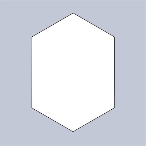 10 half hexagon template