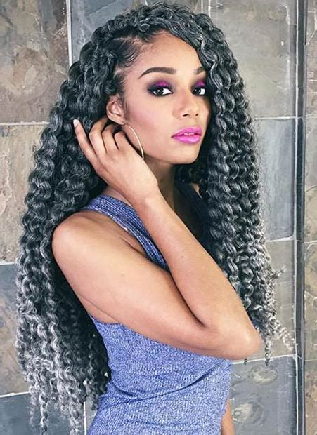 large braided hair piecesin salt n pepper 41 chic crochet braid hairstyles for black hair page 4