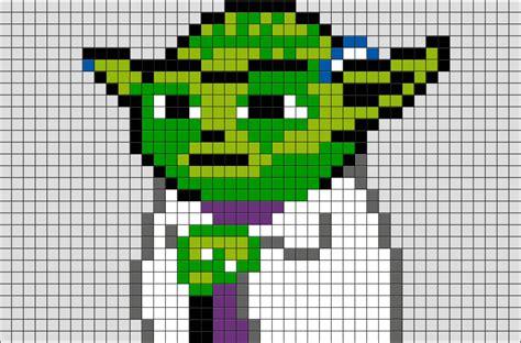 wars pixel templates wars yoda pixel brik