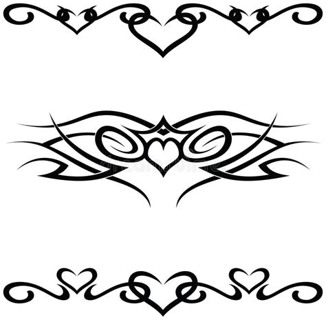 set of tribal abstract tattoos vector free download tribal tattoos stock vector illustration of detail fine