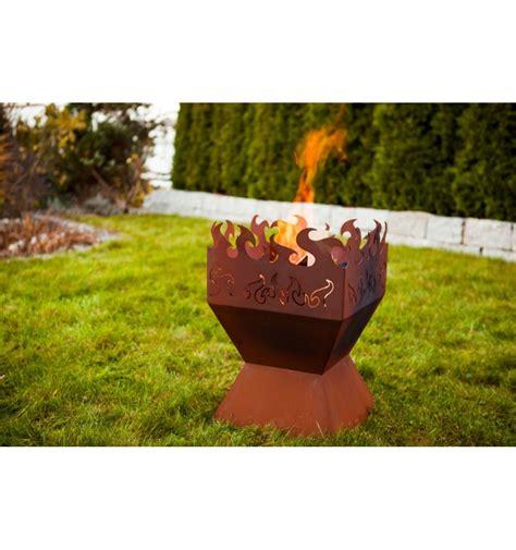 Feuerschale Rechteckig by Edelrost Feuerkorb Quot Feuerzauber Quot Rost Vom Metallmichl