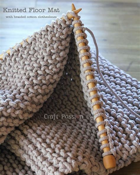 crochet floor mat floor mat free knitting pattern knitting clotheslines