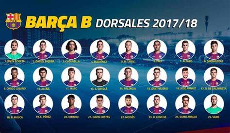 kit jugadores de ftbol bara vs madrid 10p el barcelona b reparte los dorsales