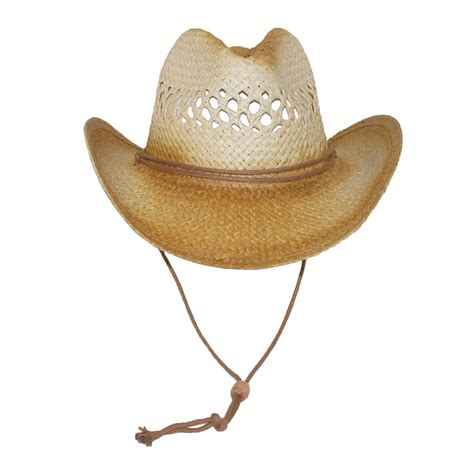womens vented straw western hat by something