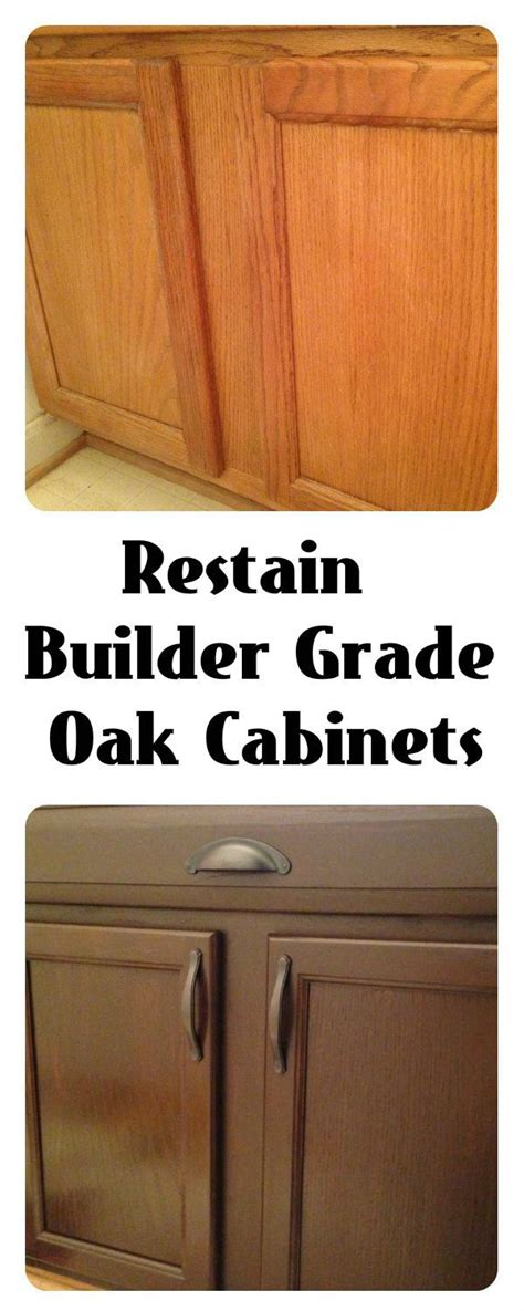 Walnut Finish Kitchen Cabinets by Restain Builder Grade Cabinets General Finishes Gel Stain