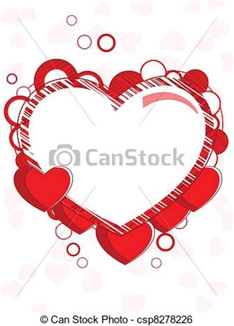 cornici a forma di cuore clipart vettoriali di estratto cuore forma cornice