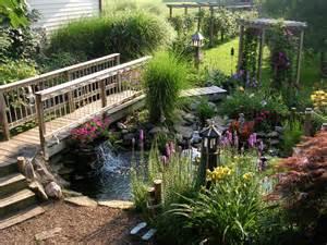 backyard with peaceful pond hgtv