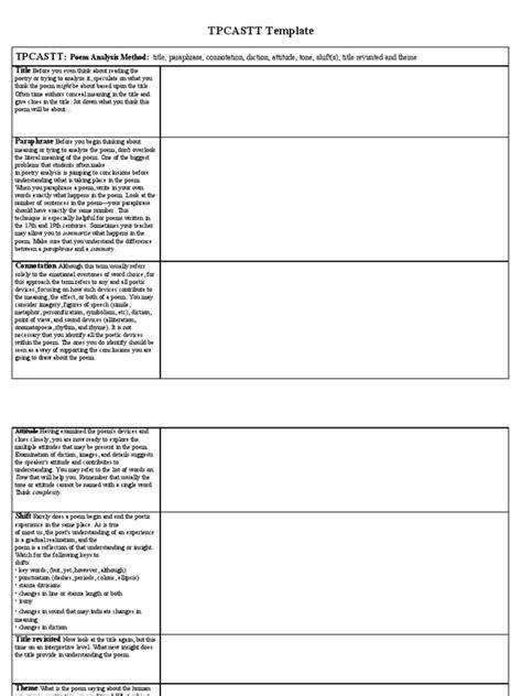 poetrys analysis template best resumes