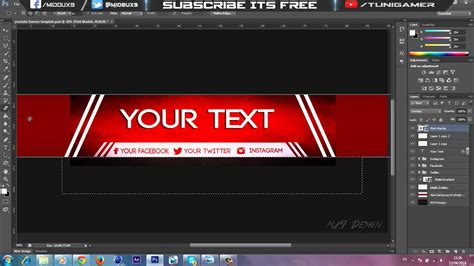 Speedart Free Amazing Youtube Channel Banner Template Direct Download Link Youtube Channel Banner Template