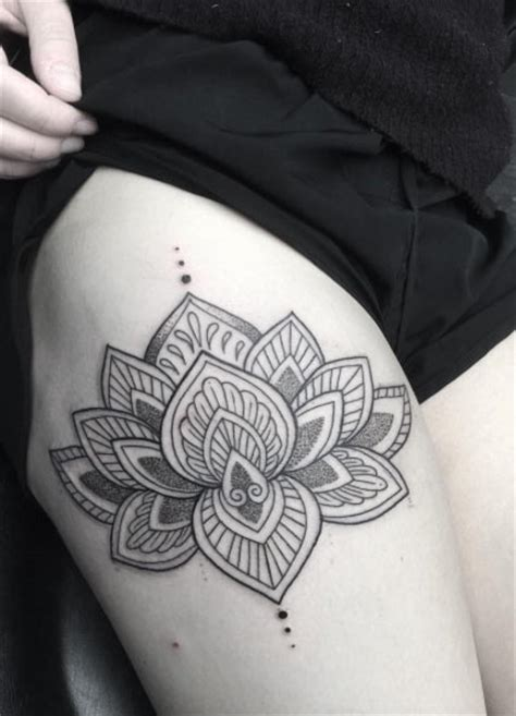 unique thigh tattoos 25 lotus flower tattoos on thigh