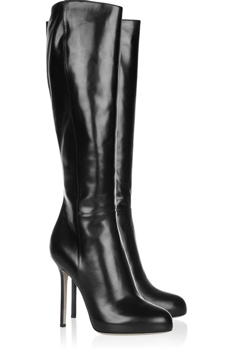 sergio black leather boots black cishoes