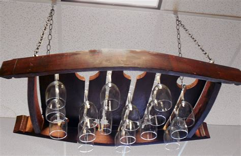 Wine Hanger Rack by Made Wine Barrel Gifts