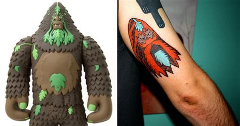 bigfoot tattoo 100 tattoos inspired by and toys