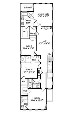 house plans for long narrow lots enderby park narrow lot home plan 087d 0099 house plans