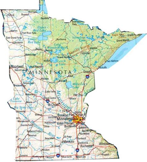 maps of minnesota map of minnesota mn state map