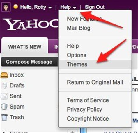 how to change layout yahoo mail how to change yahoo mail theme ask about tech