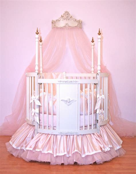 baby girl bed alexa round crib linens by little bunny blue
