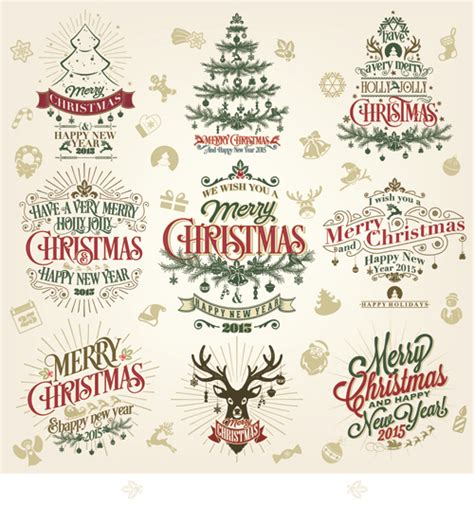 new year label vector 2015 and new year labels design 02