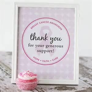 Charity Volunteer Thank You Letter pink ribbon pink velvet cupcakes raising money for susan