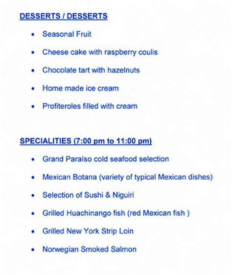 mgm grand room service menu iberostar resorts menus