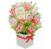 Happy Birthday Flower Bouquet  Tulip Pop Up Greeting
