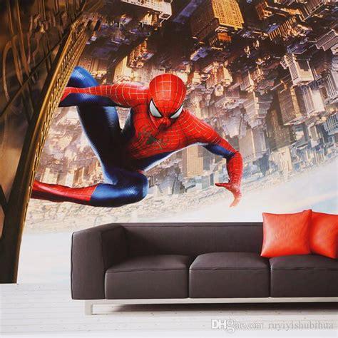 Murah 3d Wall L Decoration Spyder spider wall mural custom 3d wallpaper photo wallpaper bedroom office hotel