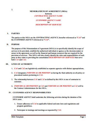 Memorandum Of Understanding Download Edit Fill Print Wondershare Pdfelement Memorandum Of Understanding Template