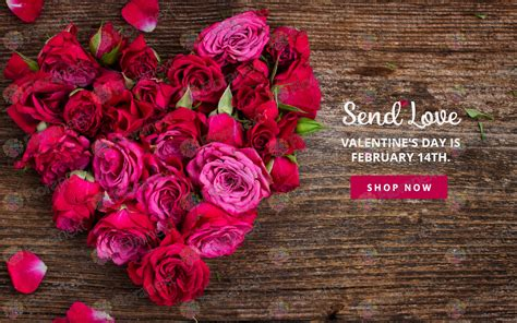 valentine s day flower selections inventing events and valentine s day and spring banners for florist websites