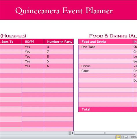 printable quinceanera planner quinceanera event planner