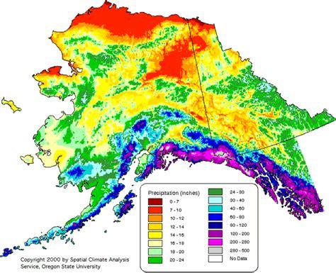 us temperature map alaska alaska precipitation map