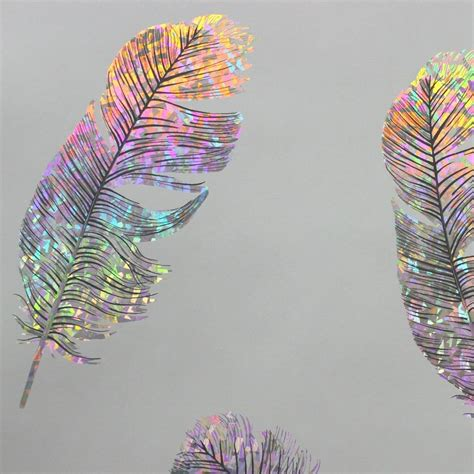 Arthouse holographic wallpaper prism feathers grey multi 294803 wonderwall by nobletts