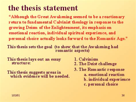 how is a dissertation the thesis statement