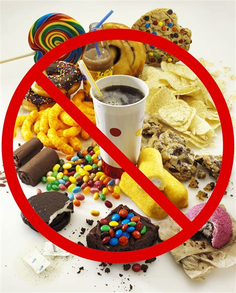 avoid junk foods this means that you should avoid late