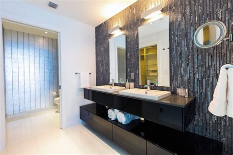 Modern Bathroom Accent Tile San Diego Tile Accent Wall Bathroom Transitional With