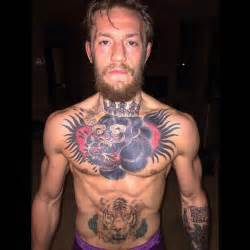 conor mcgregor conor mcgregor s chest tattoo of