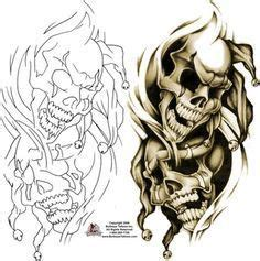 skull joker tattoo vorlagen gothic clown tattoo sketch google zoeken jsg designs
